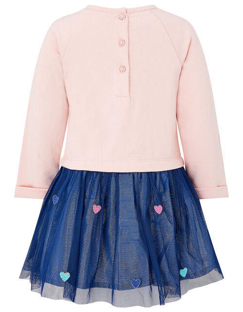 Baby Sequin Bunny Disco Dress in Pure Cotton, Pink (PINK), large