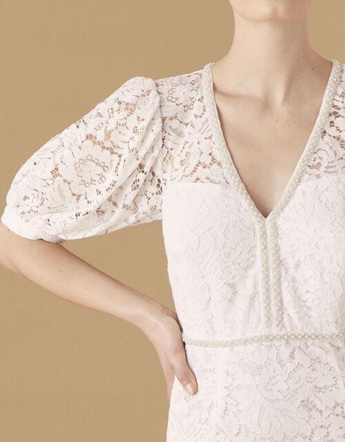 Nicky Beaded Lace Bridal Dress, Ivory (IVORY), large