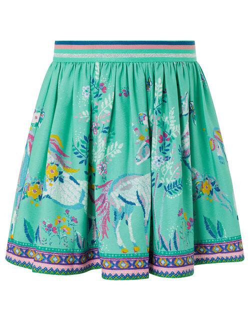 Alexa Unicorn Skirt in Recycled Fabric, Blue (AQUA), large