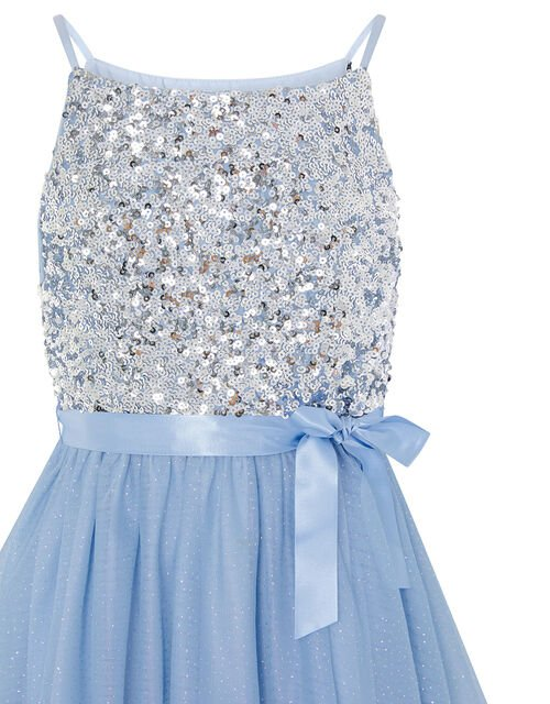 Truth Tiered Maxi Prom Dress, Blue (PALE BLUE), large