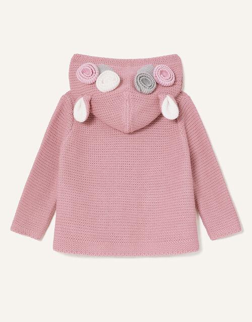 Newborn 3D Floral Hooded Cardigan, Pink (PINK), large