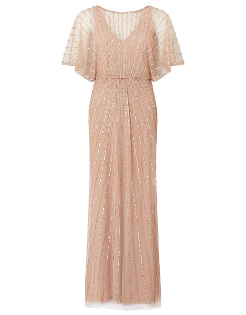 Angelina Beaded Maxi Dress, Pink (PINK), large