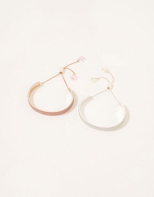 Gem Charm Cuff Bracelet Set , , large