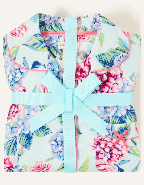 Elle Floral Pyjama Set, Blue (AQUA), large