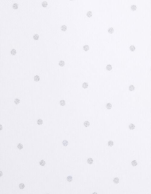 Glitter Spot Tights, White (WHITE), large