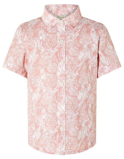 George Animal Shirt and Short Set, Pink (PINK), large