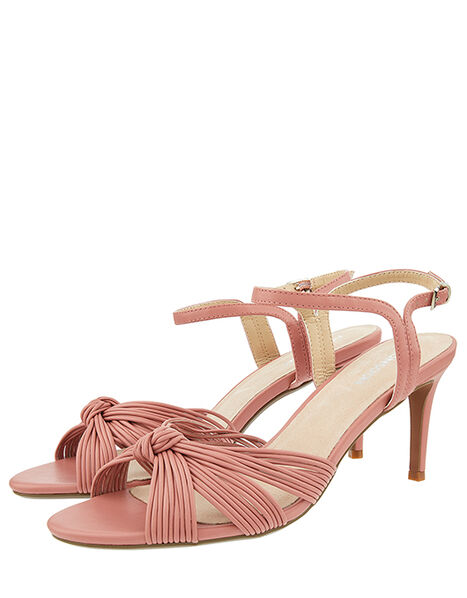 Kitty Knot Heeled Sandals Pink, Pink (BLUSH), large