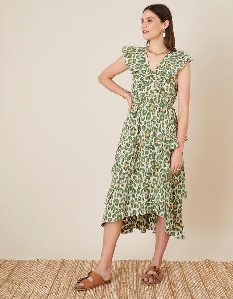 ARTISAN STUDIO Animal Print Maxi Dress  Natural, Natural (NATURAL), large