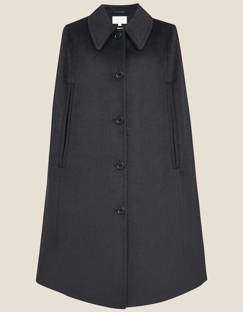 Caroline Sleeveless Coat, Black (BLACK), large