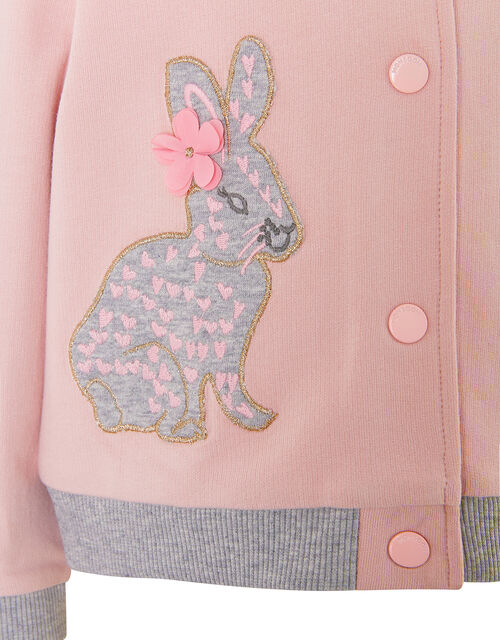 Baby Bunny Sweat Bomber Jacket, Pink (PINK), large