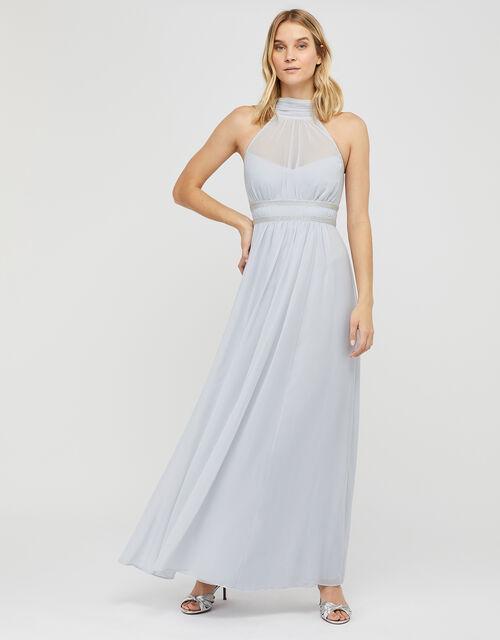 Marion Halter Embellished Maxi Dress, Blue (BLUE), large