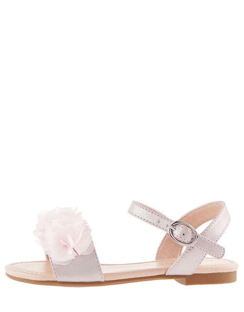 Corsage Shimmer Sandals, Pink (PINK), large
