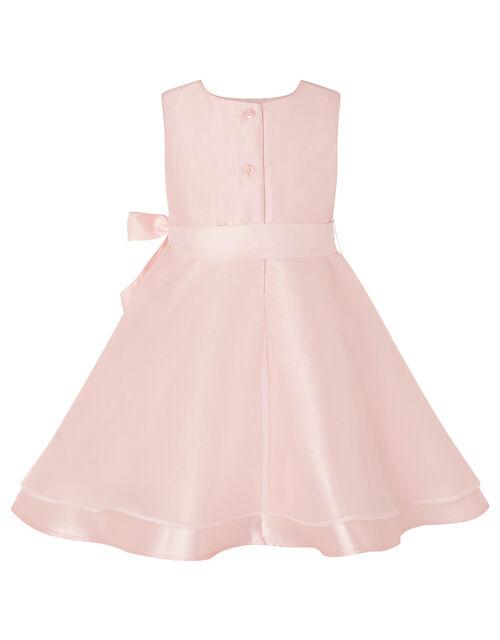 Baby Organza Dress and Bando Set, Pink (DUSKY PINK), large