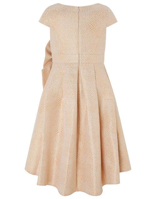 Kalia Jacquard Occasion Dress, Gold (ROSE GOLD), large