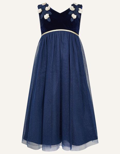 Lilly Velvet Maxi Dress  Blue, Blue (NAVY), large