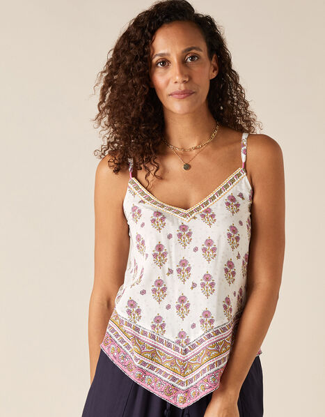 Heritage Print Cami in LENZING™ ECOVERO™ Pink, Pink (PINK), large