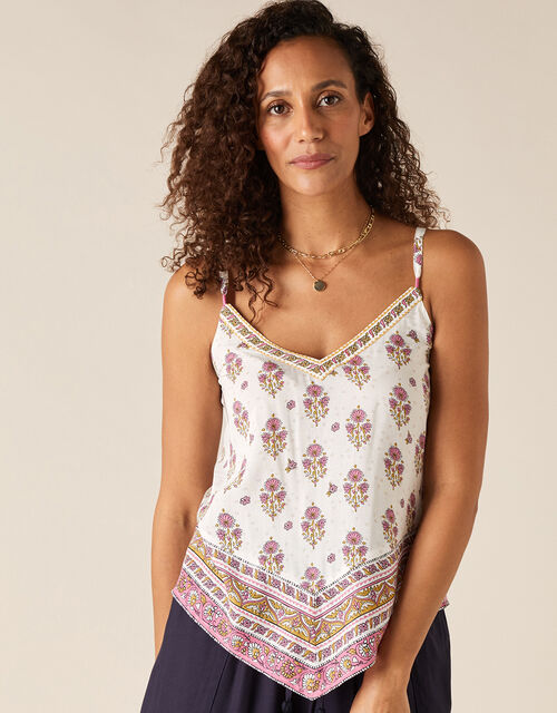 Heritage Print Cami in LENZING™ ECOVERO™, Pink (PINK), large
