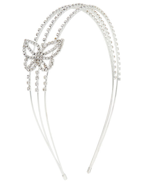 Butterfly Diamante Headband, , large