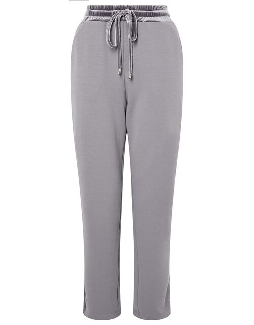 LOUNGE Laurie Velour Trim Joggers, Grey (GREY), large