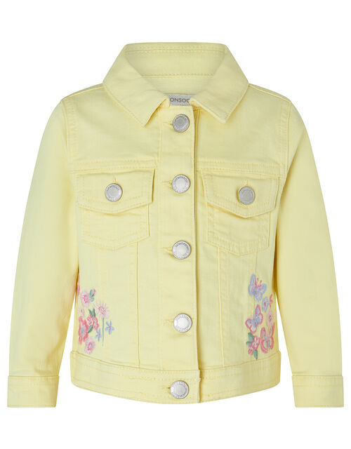 Baby Yuki Butterfly Denim Jacket, Yellow (YELLOW), large