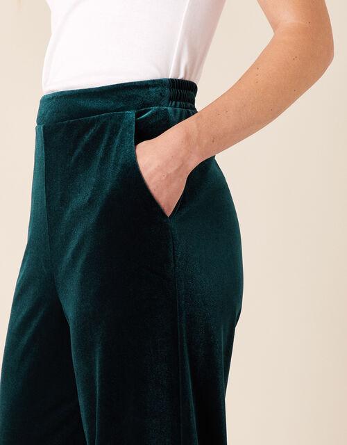 Velvet Joggers, Green (GREEN), large