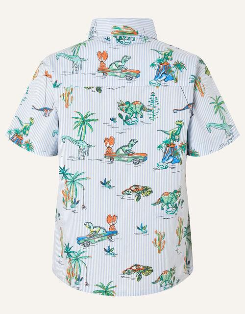 Stripe Dinosaur Shirt, Blue (BLUE), large