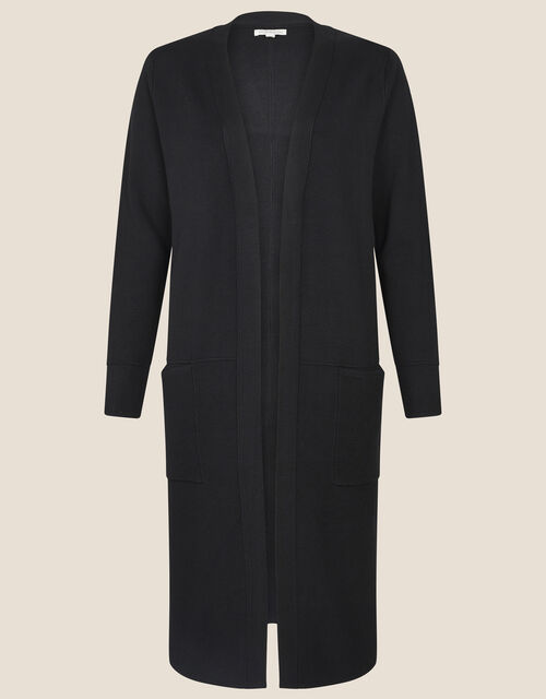 Longline Coatigan, Black (BLACK), large