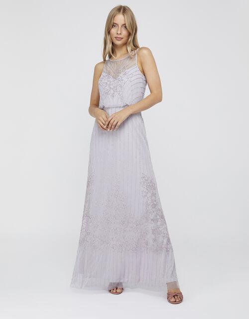 Bella Embellished Maxi Dress, Purple (LILAC), large