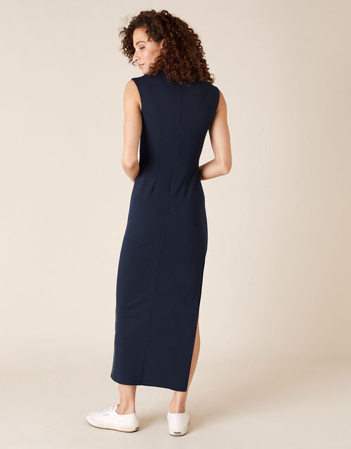 Ophelia Sequin Insert Stretch Maxi Dress, Blue (NAVY), large