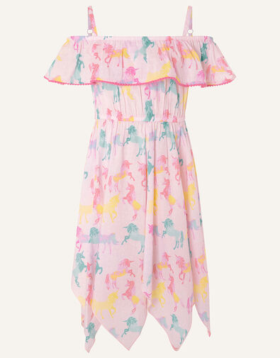 Misty Unicorn Dress in Organic Cotton  Pink, Pink (PALE PINK), large