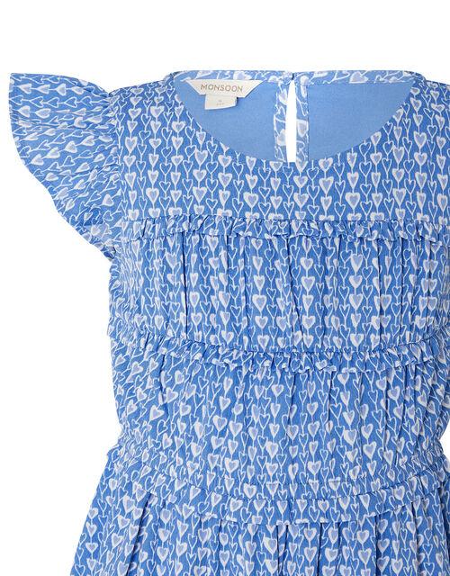 Heart Print Dress, Blue (BLUE), large