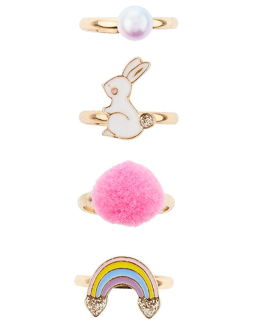 Bunny and Rainbow Ring Set, , large