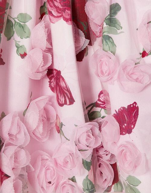 Baby 3D Rose Dress, Pink (PINK), large