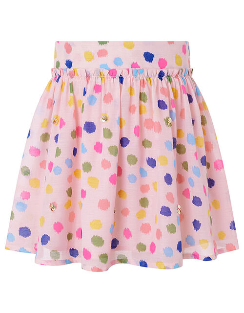 Naomi Colourful Splodge Skirt, Pink (PALE PINK), large