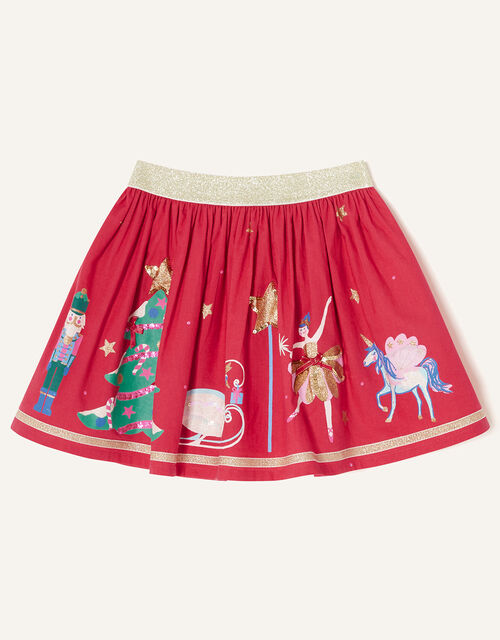 Christmas Applique Skirt, Red (RED), large