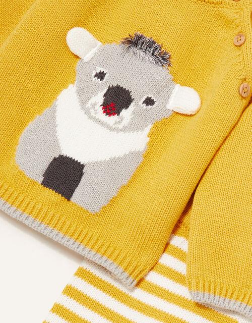 Newborn Koala Knit Set, Yellow (MUSTARD), large