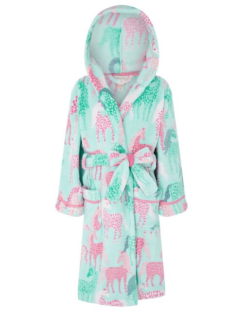 Chunky Unicorn Robe with Recycled Fabric, Blue (AQUA), large