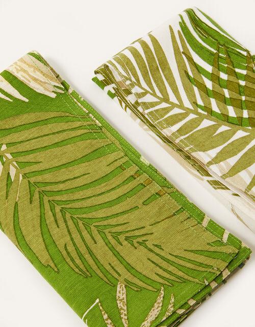 Palm Print Reusable Napkin Set, , large