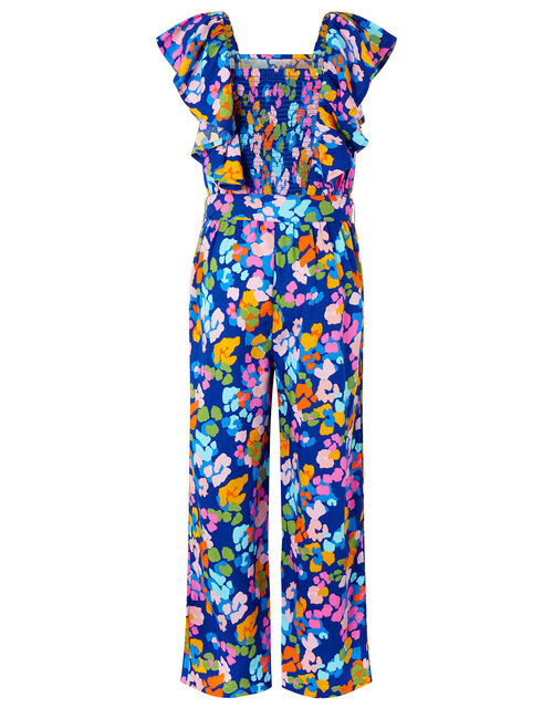 Cleo Colourful Wide-Leg Jumpsuit in LENZING™ ECOVERO™, Blue (BLUE), large