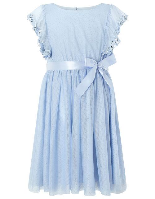 Amika Blue Sequin Sparkle Dress, Blue (BLUE), large