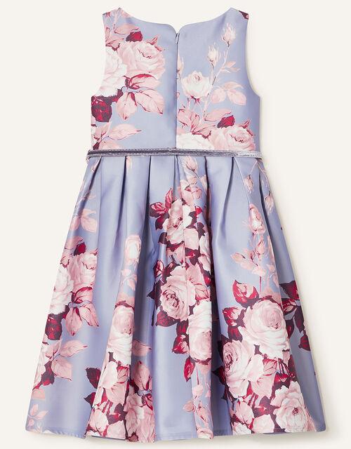 Alana Rose Print Dress, Blue (BLUE), large