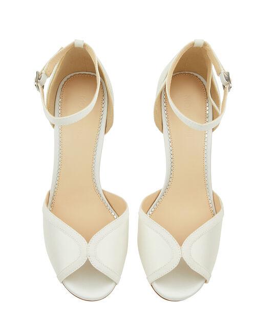 Kirsty Peep Toe Bridal Sandals, Ivory (IVORY), large