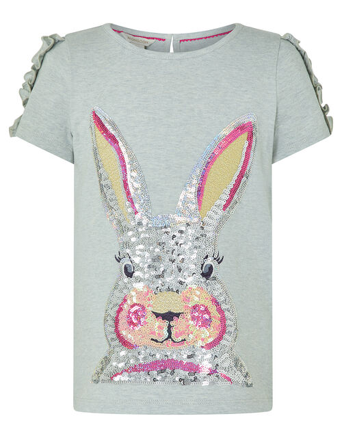 Sequin Bunny T-shirt, Grey (GREY), large