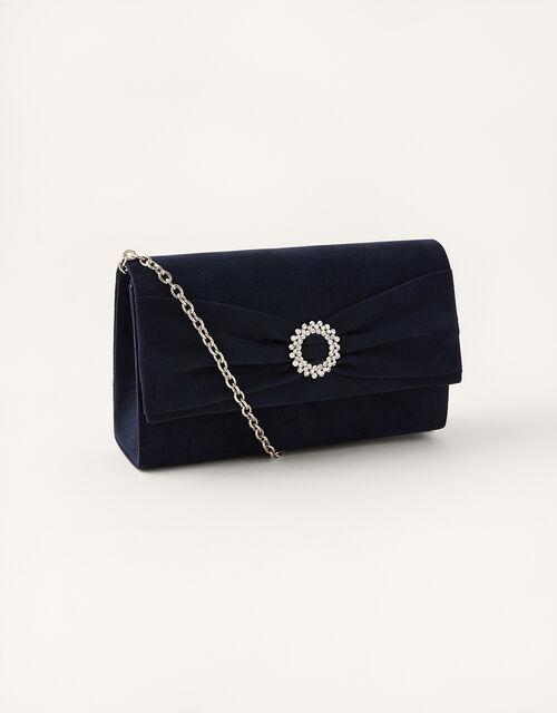 Crystal Trim Occasion Clutch Bag, , large