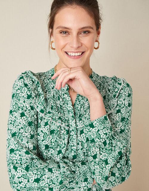 Frida Floral Print Dress, Green (GREEN), large