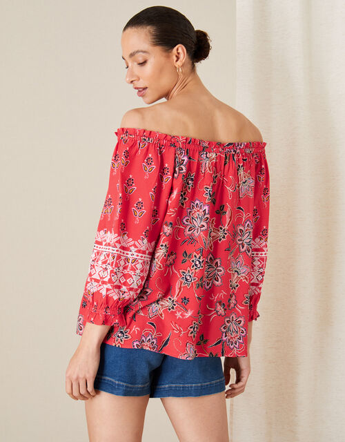 Anissia Off-Shoulder Top, Red (RED), large