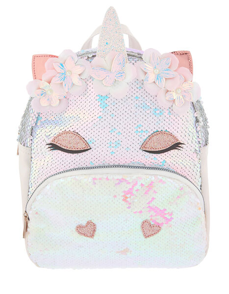 Mirage Sequin Unicorn Backpack, , large