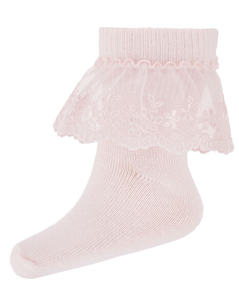 Baby Poppy Lace Socks Pink, Pink (PINK), large
