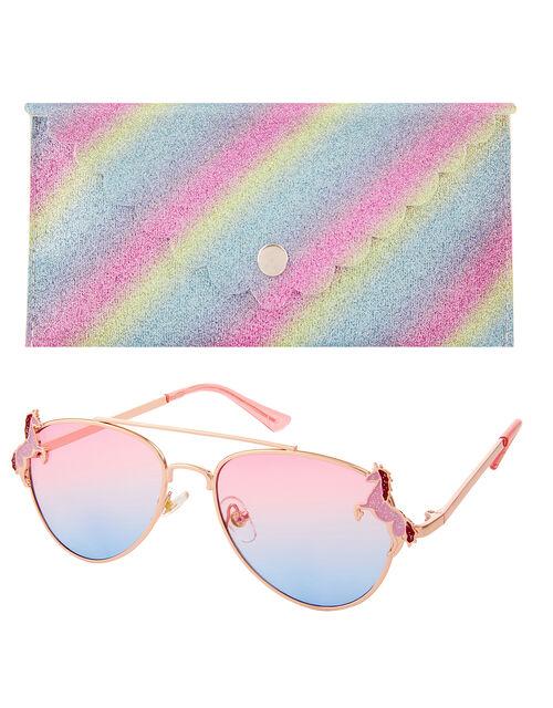 Elle Unicorn Sunglasses and Case Set, , large
