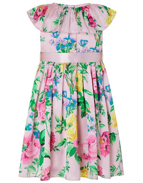 Baby Wallflower Satin Dress, Pink (PINK), large